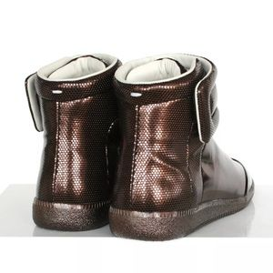 b451584df4768 Maison Martin Margiela Shoes - BRONZE MAISON MARTIN MARGIELA HIGH-TOP  SNEAKERS.